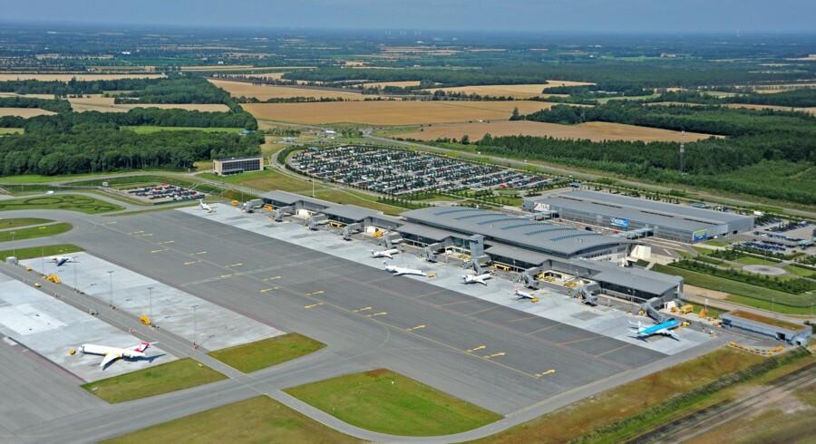 En større strejke har ramt Billund Lufthavn. Dusinvis fly er forsinkede eller aflyst onsdag. (arkivfoto) Free/Bjarne Sig Jensen/ Billund Lufthavn