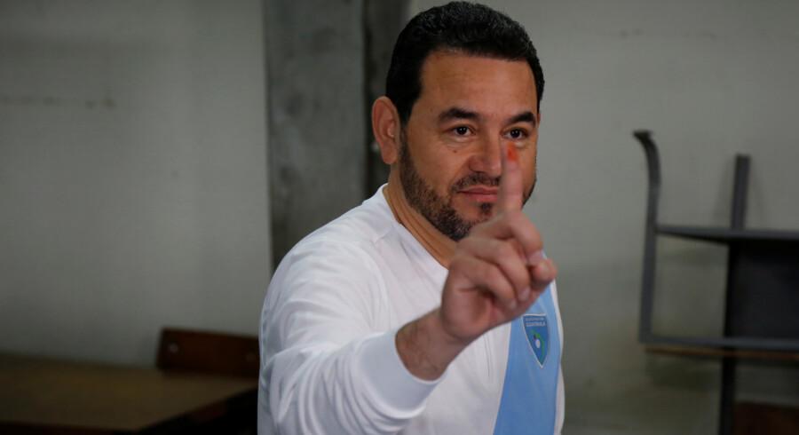 Guatemalas præsident, Jimmy Morales, har været aggressiv i kampen mod ulovlige stoffer, siden han indtog embedet som præsident i 2016. Reuters/Luis Echeverria/arkiv