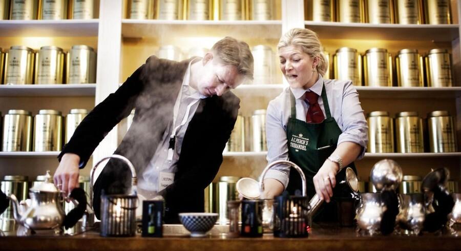 Søskendeparret Christian- og Stine Hincheldey fra Perchs tehandel er blandt debutanterne i årets Blå Bog.