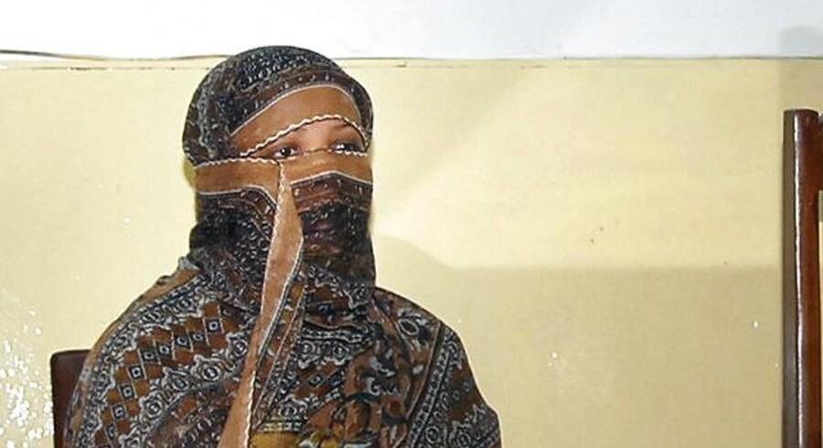 ARKIVFOTO af den kristne mor, Asia Bibi, som sidder på dødsgangen dømt for blasfemi i 2010 efter et skænderi med en muslimsk kvinde om drikkevand