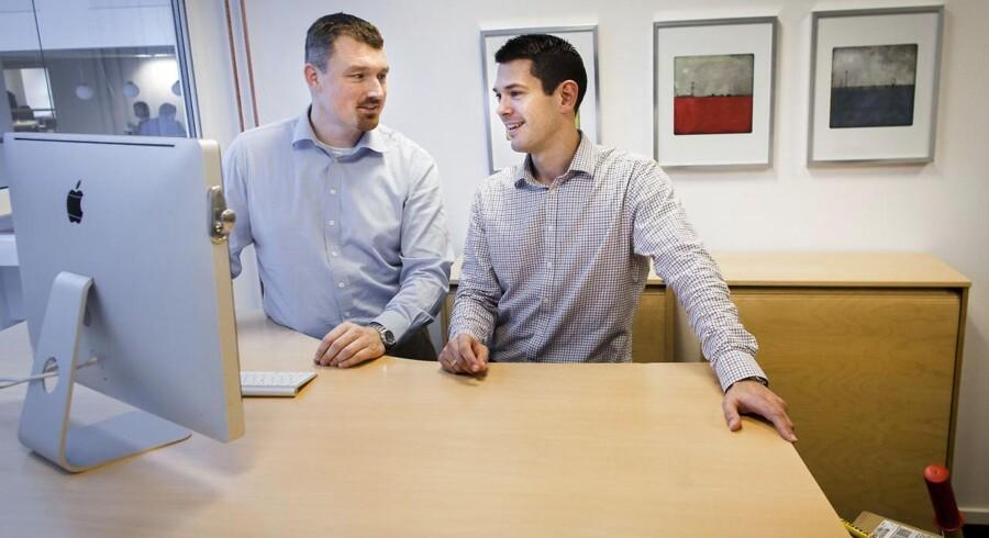 """De to tidligere Mærsk-direktører Morten Lærkholm og Thorsten Boeck har startet virksomheden Transporteca, der fungerer som et """"Momondo for fragt"""" - en side, hvor virksomheder kan få overblik over, hvor og hvordan deres shipping kan klares billigst."""