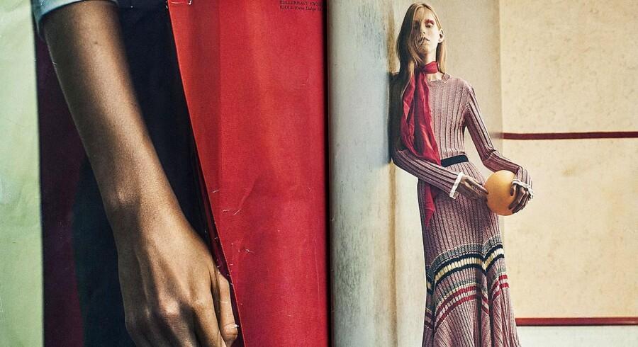Et foto af en meget tynd model i modemagasinet Cover har genoplivet debatten om undervægtige modeller. Fotograf: PHILLIP MESSMAN