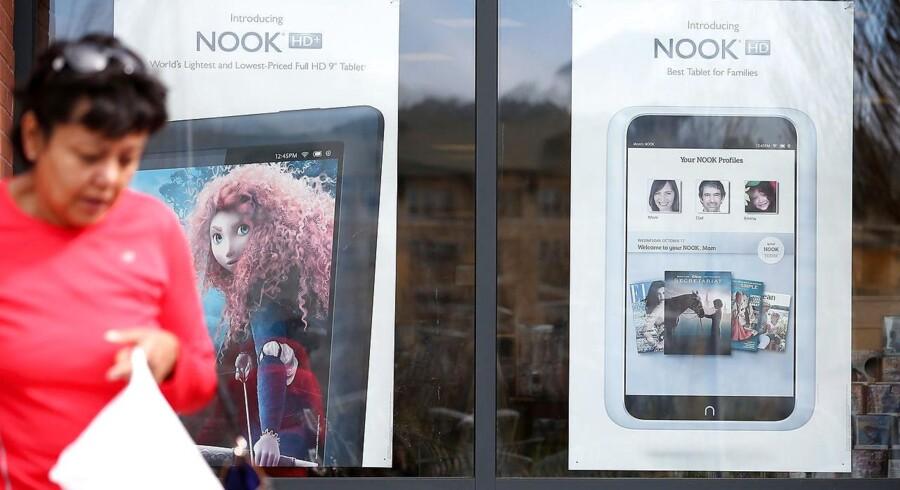 Nook ejes af bogkæden Barnes & Noble og sælger både Nook-e-bogslæsere og digitale e-bøger. Nu vil Microsoft købe selskabet. Arkivfoto: Justin Sullivan, AFP/Scanpix