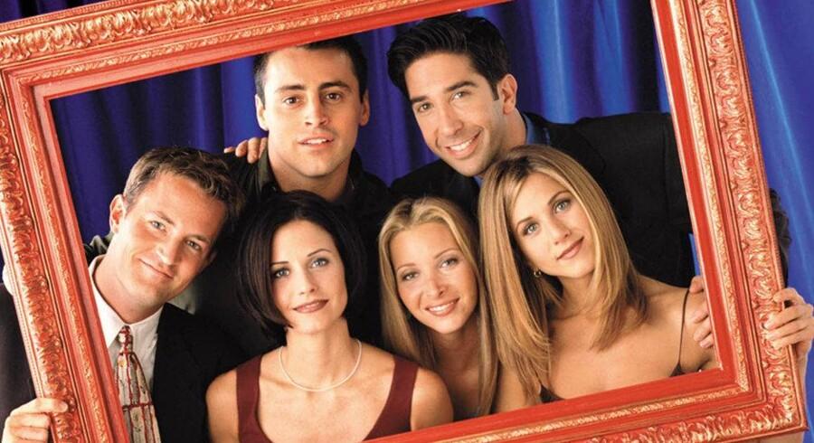 Karakterne Chandler, Joey, Ross, Monica, Phoebe og Rachel levede i ti år i den populære serie »Friends«. I dag har serien om Ross' evige forelskelse i Rachel, Phoebes alternative livsstil, Monicas rengøringsvanvid, Chandlers kiksede jokes og Joeys jagt efter damer og sandwiches opnået kultstatus. Arkivfoto: Jon Ragel/Reuters