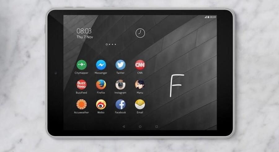 N1 er navnet på Nokias nye tavlecomputer med en skærm på 7,9 tommer - en overraskende tilbagekomst til mobilmarkedet efter frasalget til Microsoft. Foto: Nokia