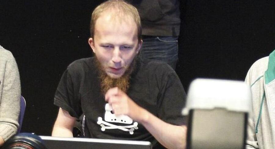 Svenskeren Gottfrid Svartholm Varg står sammen med en 21-årig dansker tiltalt i en stor sag om hacking af bl.a. CPR-registret. Foto: Fredrik Persson