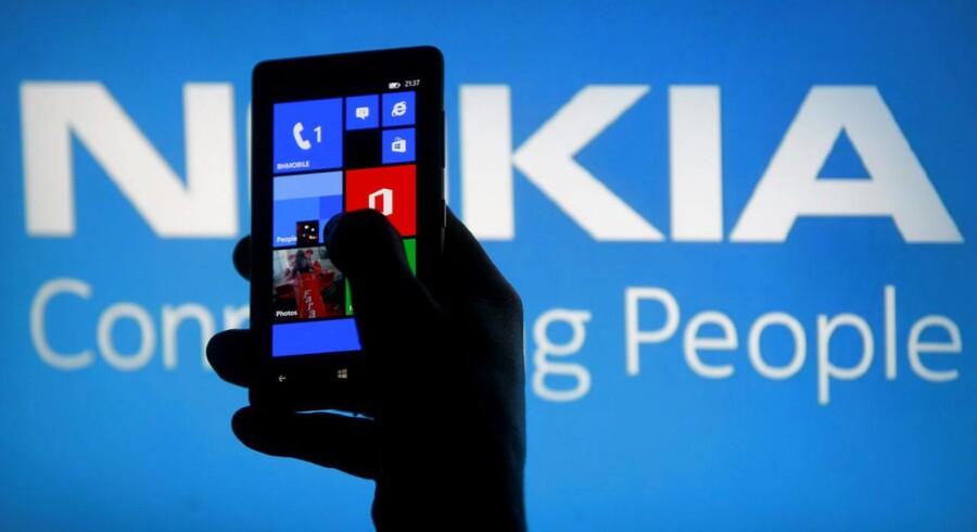 De danskere, der har købt en Nokia-telefon, vil i stigende grad også vælge Nokia næste gang, og flere er tilfredse med deres Nokia-telefon end med deres Apple-telefon, viser ny undersøgelse. Arkivfoto: Dado Ruvic, Reuters/Scanpix