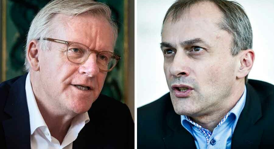 Borgmester i Rudersdal kommune, Jens Ive (V), og borgmester i Høje-Taastrup kommune, Michael Ziegler (K). Foto: Scanpix.