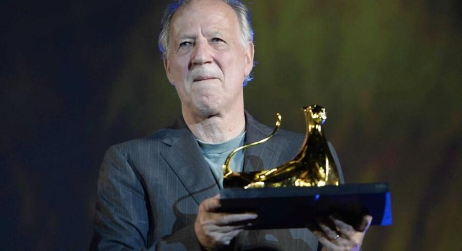 Werner Herzog modtog Pardo-prisen ved den internationale filmfestival i Locarno i 2013. Foto: Urs Flueeler