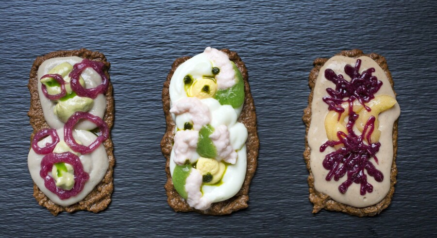 Det blendede »smørerbrød« ser måske ikke superlækkert ud, men det smager på den helt rigtige måde og er med til at give patienter og plejehjemsbeboere med synkebesvær øget appetit Foto: Anne-Li Engström