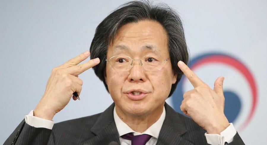 Direktøren for det sydkoreanske center for sygdomskontrol holdt tirsdag pressekonference.