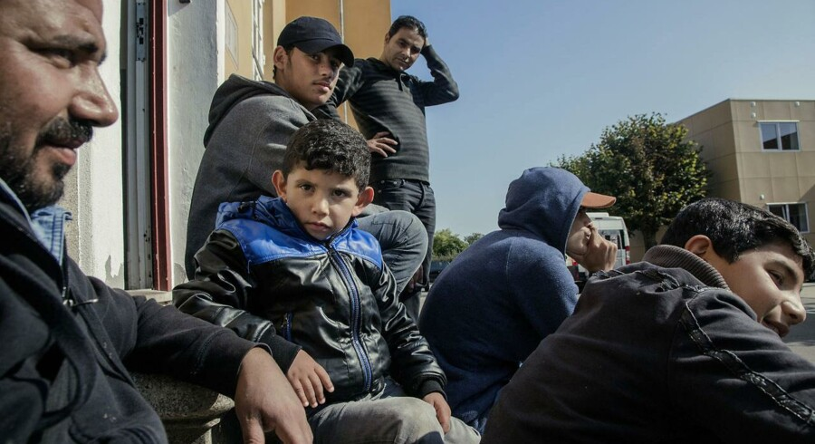 Unge mænd i Sandholmlejren venter på at blive registrerede som flygtninge og få asyl i Danmark.Arkivfoto: Nikolai Linares