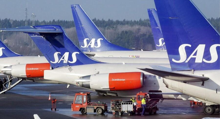 Der kommer flere passagerer til hos SAS, men omsætningen falder per fløjet kilometer.