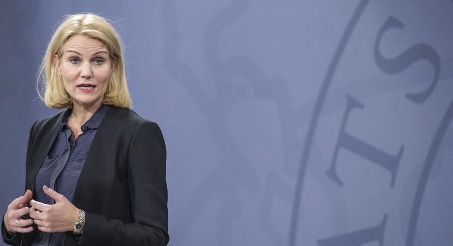 Terror i København. Statsminister Helle Thorning-Schmidt holder pressemøde for udenlandske medier i Statsministeriet mandag eftermiddag d. 16. februar 2015, i forbindelse med weekendens skudattentat i København
