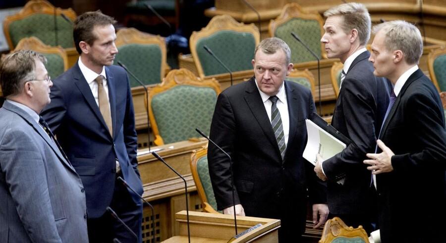 Venstre og DF har vidt forskellige holdninger til regeringens udspil om partistøtte.