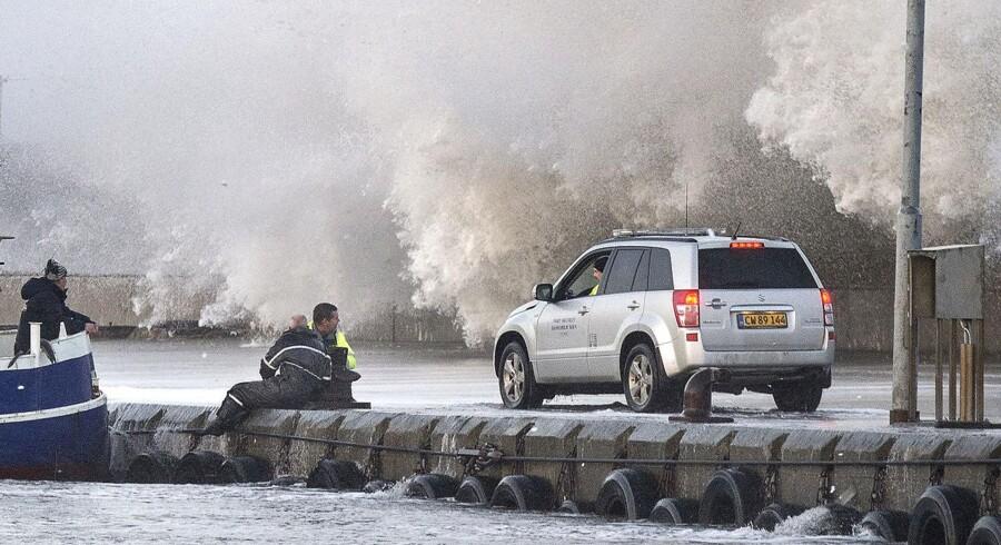 Stormen Urd i Nordjylland .