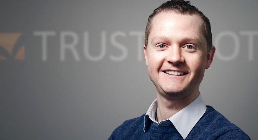 Peter Holten Mühlmann, stifter af og direktør i Trustpilot, der nu får et solidt boost i form af et kapitalindskud på over en halv milliard kroner.
