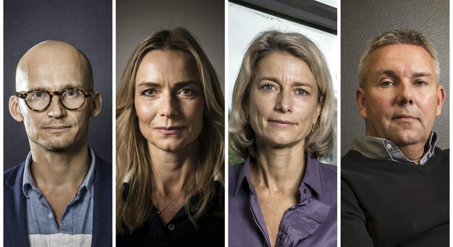 Fra venstre af Chr. Stadil, Malou Aamund og Eva Berneke (FOTO: Thomas Lekfeldt) og yderst til højre Dennis Balslev (FOTO: Linda Kastrup)