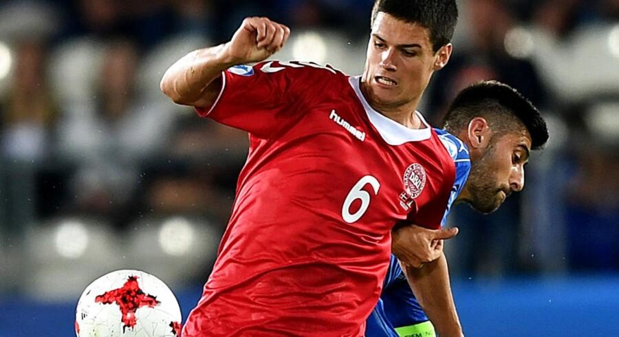 Christian Nørgaard havde svært ved at sove efter Danmarks åbningsnederlag ved U21-EM til Italien.