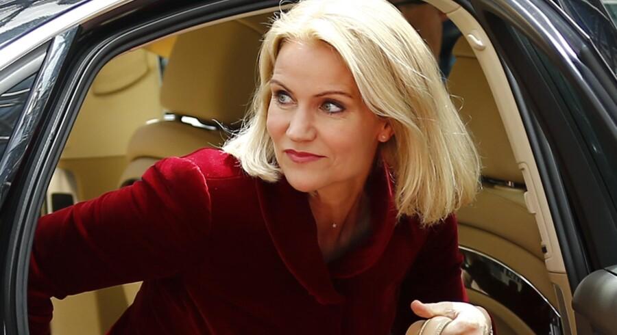 Helle Thorning-Schmidt lever op til sit ry som politikeren, der aldrig viser selv den mindste sprække i panseret på trods af de nu to store nederlag i forbindelse med kampene om internationale topposter. Foto: Scanpix