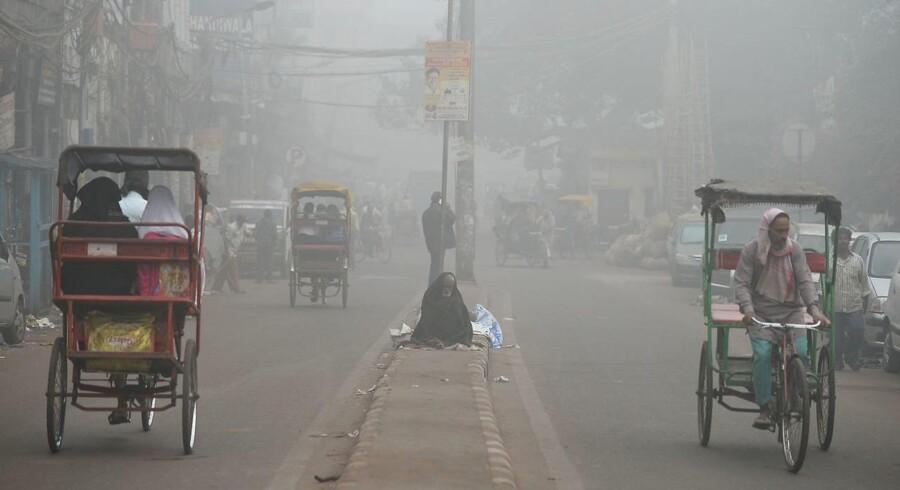 Forureningen i New Delhi er så høj, at alle folkeskoler i dag holdt lukket.