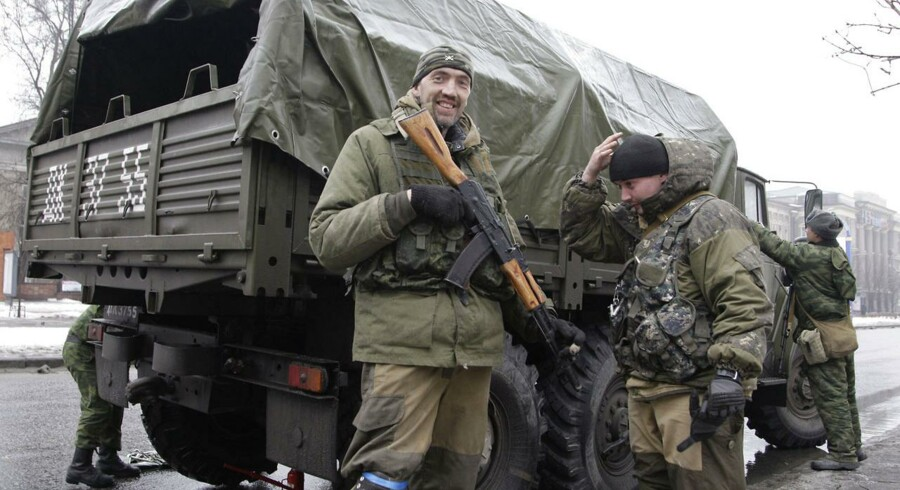 Pro-russiske separatister i Donetsk.