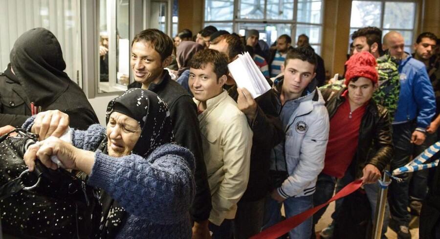 Regeringen har opjusteret forventingerne til antallet af asylansøgere i 2016. ARKIVFOTO.