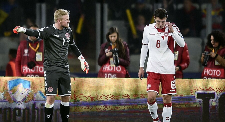 Kasper Schmeichel må melde afbud til de forestående landskampe. Scanpix/Liselotte Sabroe