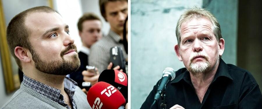 Nikolaj Villumsen (tv) er ny udenrigsordfører i Enhedslisten på bekostning af Christian Juhl (th).