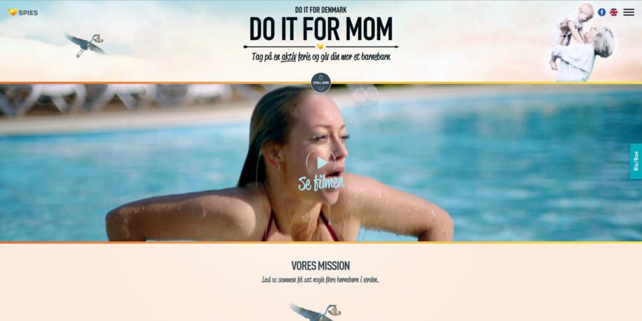 Der var blandt andet priser til »Do it for Mom«-kampagnen ved Epica Awards i Berlin. Foto fra Spies-kampagnen