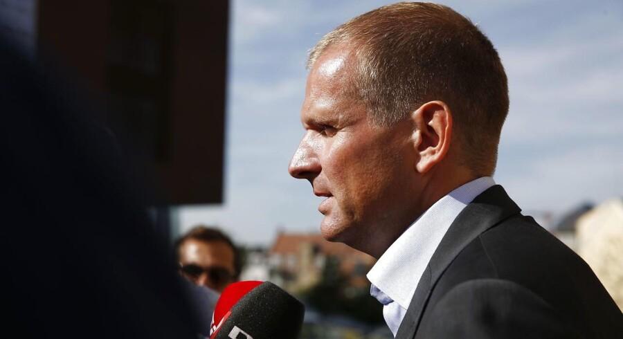 Forsvarsadvokat Michael Juul Eriksen foran retten.