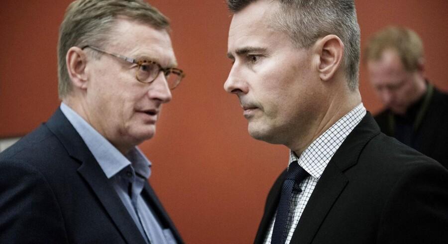 Erhvervs- og vækstminister Henrik Sass Larsen (S) skulle blandt andet svare på spørgsmål fra erhvervsordfører Kim Andersen (V) under et samråd om de stigende bidagssatser fredag.