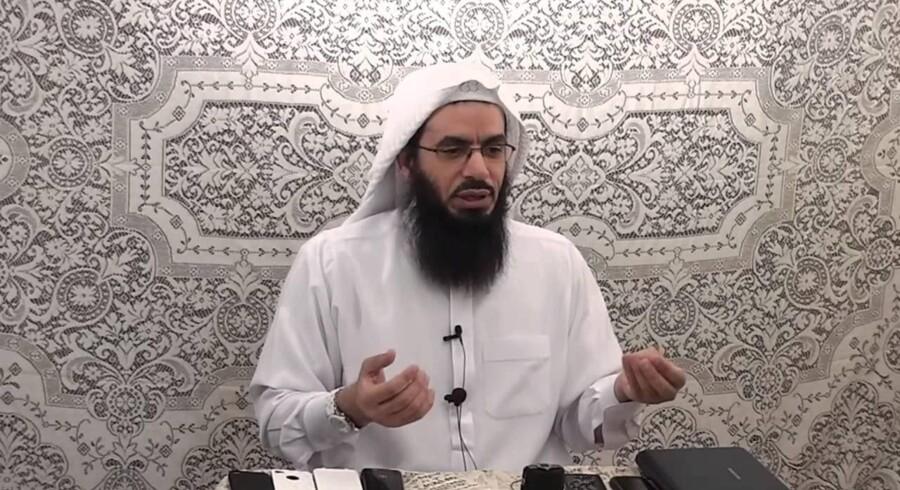 Prædikanten Ahmad Jibril er amerikansk statsborger og spreder fra byen Dearborn sine budskaber til titusindvis af følgere på sociale medier som YouTube og Twitter. Foto affotograferet fra YouTube