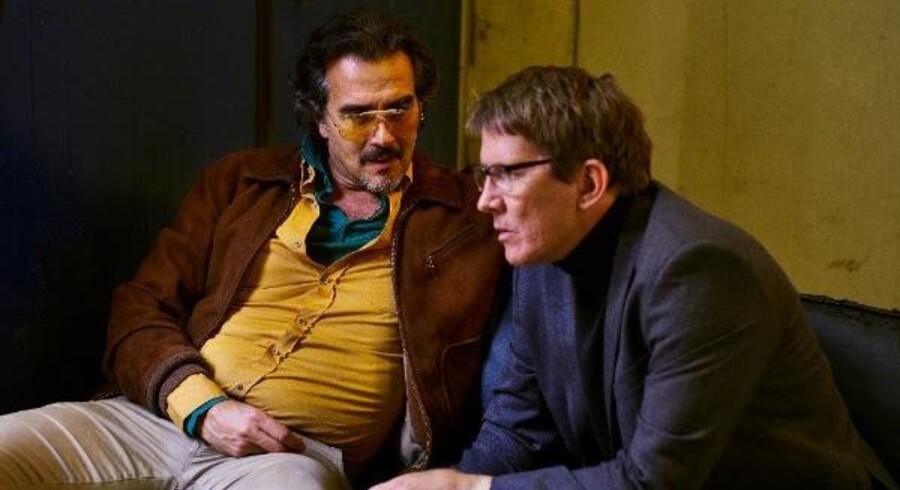 Rafael Edholm og Thomas Bo Larsen lægger planer i »Veni, vidi, vici«. Foto: Viaplay
