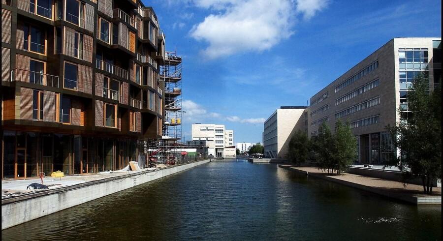 Amager er det mest populære sted at kigge efter ny bolig blandt københavnerne. Her er det boligbyggeriet Karen Blixen Parken i Ørestad på Amager.