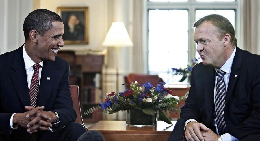 Barack Obama mødes med Lars Løkke Rasmussen i København, oktober 2009.