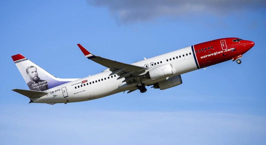 Arkivfoto. Planlagte flyvninger mellem de tre skandinaviske hovedstæder og Singapore må vente for Norwegian, da overflyvningstilladelser fra Rusland mangler.