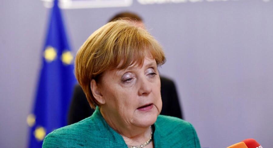 Angela Merkel 29. juni 2018. REUTERS/Eric Vidal