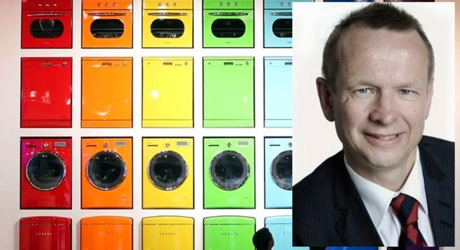 Markedet for hårde hvidevarer kan sætte rekord i år. Henrik Egede, som er direktør for den danske brancheforening af producenter af hvidevarer og elektriske husholdningsapparater, bliver nu formand for den europæiske brancheorganisation. Fotocollage: Reuters/FEHA