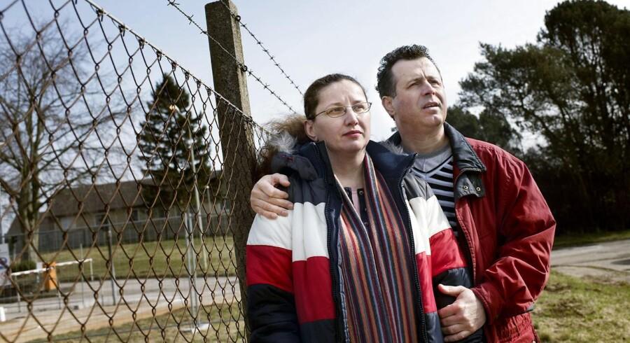 Rumænerne Iliana Mihai og Petrica Zamfir i udsendelscenter Sjælsmark i Hørsholm, ugen før de blev udsendt til hjemlandet.