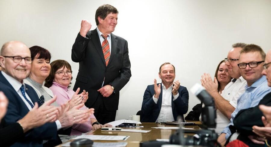 Ole Stephensen stiller op for Konservative. Opstillingsmøde i Taastrup Kulturcenter torsdag d. 26. januar 2017. Deltagerne stemmer om Ole Stephensen skal være folketingskandidat i kredsen.