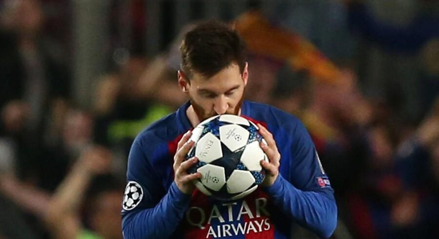 Barcelona-spilleren Lionel Messi under en Champions League-kamp.