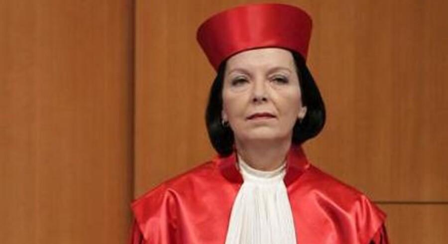 Her ses dommer Christine Hohmann-Dennhardt i 2010, mens hun arbejdede for forbundsforfatningsdomstolen i Karlsruhe.