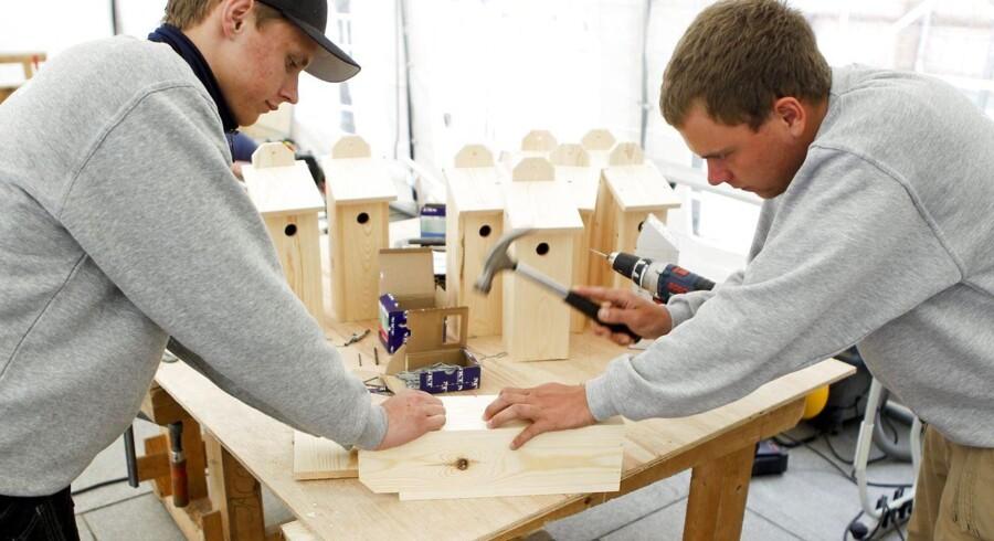 ARKIVFOTO: Lærlinge fra Tradiums bygge- og anlægsudannelse gennemfører deres lokale-skolemesterskaber på Østervold.