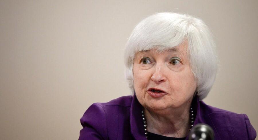 Formanden for den amerikanske centralbank, Janet Yellen.