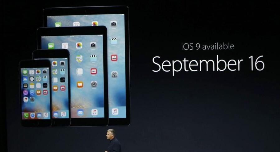 Apple har store problemer med folks opdatering til det nye iOS 9-mobilstyresystem, som man har kunnet hente siden 16. september. Arkivfoto: Stephen Lam, Getty Images/AFP/Scanpix