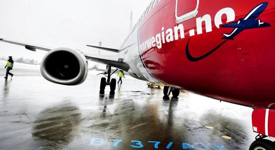 Lavprisselskabet Norwegian har transporteret et stigende antal passagerer i juli.