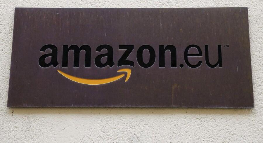 Amazon Europe Holding Technologies - her skilftet ved indgangen til Luxembourg-kontoret - er et af Amazons selskaber i Europa. Internetgigantens skatteforhold bliver nu set efter af EU. Arkivfoto: François Lenoir, Reuters/Scanpix