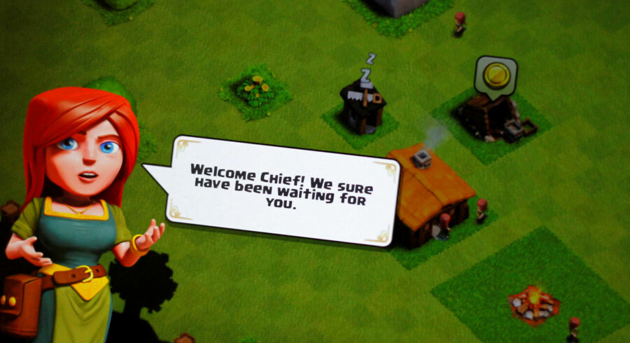"A ""Clash of Clans"" welcome screen is seen on a phone June 16, 2016. REUTERS/Thomas White"