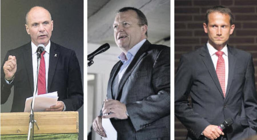 35 procent af Venstres vælgere foretrækker Søren Gade som formand for partiet. - Den nuværende formand, Lars Løkke Rasmussen, får også kun opbakning fra 35 procent af V-vælgerne. - Kun 13 procent af Venstres vælgere vil have den nuværende næstformand, Kristian Jensen, som formand. Arkivfoto: Nils Meilvang